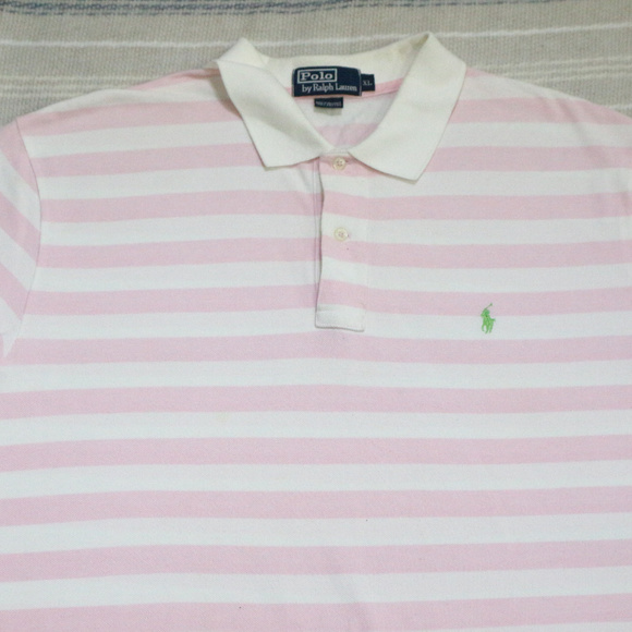 Polo by Ralph Lauren Other - Vintage Pink White Striped POLO by Ralph Lauren